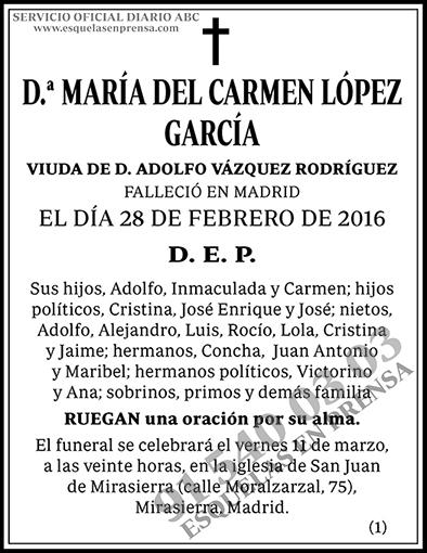 María del Carmen López García